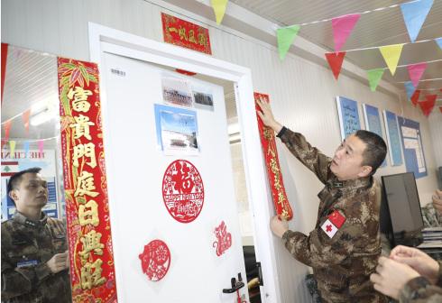中國赴黎巴嫩維和官兵迎新春