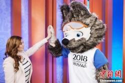 """2018年世界杯吉祥物发布 卡通""""狼""""当选"""