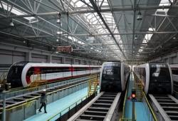 北京首条磁浮列车将开通试运营