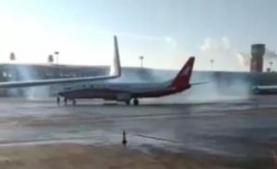 """长春机场回应""""多架飞机冒蓝烟?#22836;?#26426;返航"""":天冷导致喷蓝烟"""