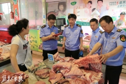 我市开展猪肉市场整治行动