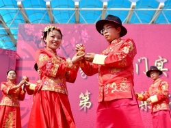 河北石家庄:教师集体婚礼