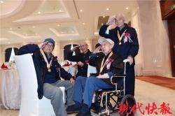 61名抗战老兵相聚南京 忆峥嵘岁月诉战友之情