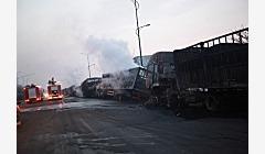 张家口爆炸事故初步原因:运输乙炔车引起连环爆炸