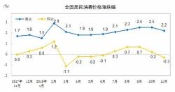 11月CPI同比涨幅回落 预计全年涨幅在调控目标之内