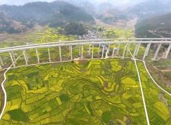 俯瞰贵州乡村美景