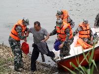 江蘇淮安舉行洪澤湖滯洪區滯洪撤退演練