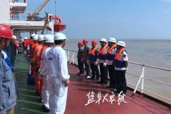 射阳海事处组织开展海上应急演练