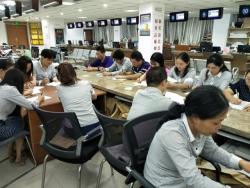 亭湖區人社局社保中心舉行  黨員干部政治理論知識測試