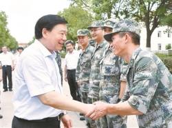 婁勤儉走訪慰問駐蘇部隊子弟兵:譜寫新時代軍愛民民擁軍的新篇章
