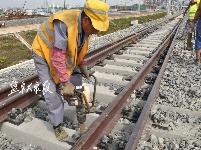 盐城高铁枢纽铺轨即将完工
