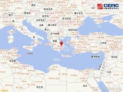 希腊发生5.1级地震, 震源深度10千米