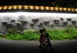 浙江安吉:藝術光影秀  裝飾鄉村夜