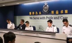 香港警方:昨晚激进示威者任意施暴 警察拔枪戒备正确合法