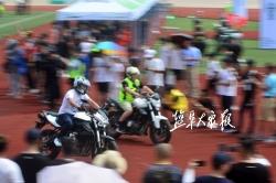 千名摩托车手沿黄海海堤巡游