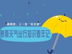 """暑期给孩子上一堂""""安全课"""" 暴雨天气出行知识要牢记"""