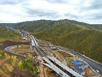 延崇高速太子城互通式立交建设稳步推进