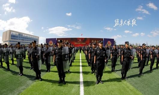 """""""盐城·黄海-2019""""反恐处突汇报演练"""
