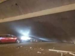 突發!312國道錫港路上跨橋垮塌