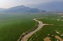 鄱陽湖進入枯水期