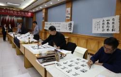 射阳法院和县书画家协会联合举办庆祝人民法院成立70周年书画笔会