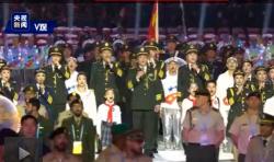 独家视频丨中华人民共和国国旗 国际军事体育理事会会旗入场
