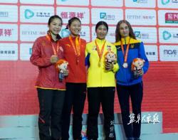 第十五屆世界武術錦標賽上 大豐姑娘戚玉梅斬獲散打60公斤級冠軍