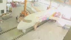 萌!国产支线客机ARJ21涂上熊猫装