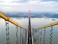 長江上首座雙層公路大橋通車