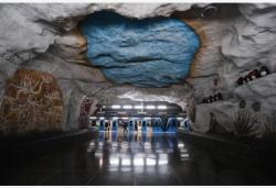 """走進""""地下藝術長廊""""——瑞典斯德哥爾摩地鐵"""