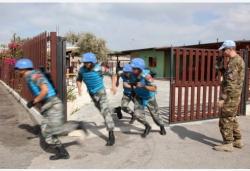 中國維和官兵聯黎部隊軍事障礙賽奪冠