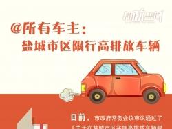圖解|@所有車主:鹽城市區限行高排放車輛