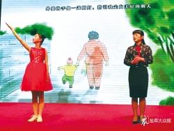 《童心里的诗篇》巡演走进上冈实中 师生咏唱优秀作品展诗歌魅力