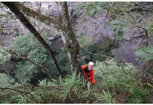 广西那坡县发现一大型天坑群