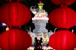 中國彩燈點亮法國塞納古堡
