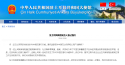 土耳其多地发生针对中国的游行示威 中方回应