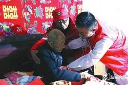 响水县退役军人事务局联合志愿者 慰问九旬抗战老兵