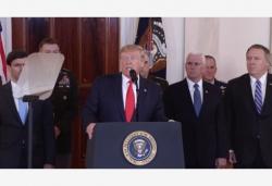 特朗普说伊朗袭击未造成美方人员伤亡 提及美伊合作可能