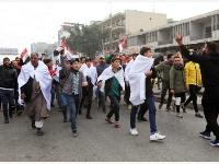 伊拉克民眾在巴格達舉行示威要求美軍撤離