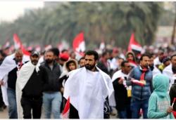 伊拉克民众在巴格达举行示威要求美军撤离