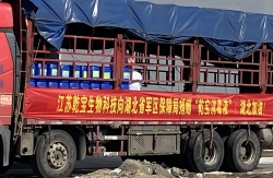阜宁高新区爱心企业向疫区赠送20吨消毒液