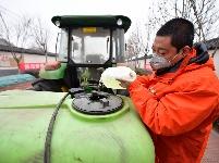 河北:农村立体消杀作业 助力疫情防控