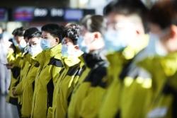 甘肃省第六批援助湖北医疗队启程