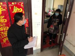 阜宁县现代服务业园区凝聚合力强化小区疫情防控