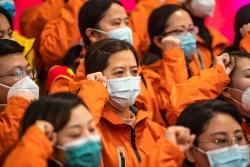 貴州第九批支援湖北醫療隊出征