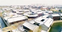 西溪2020年的第一场雪风景美如画