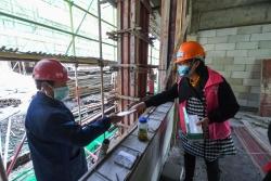 党员志愿者保障基层民生工程有序复工