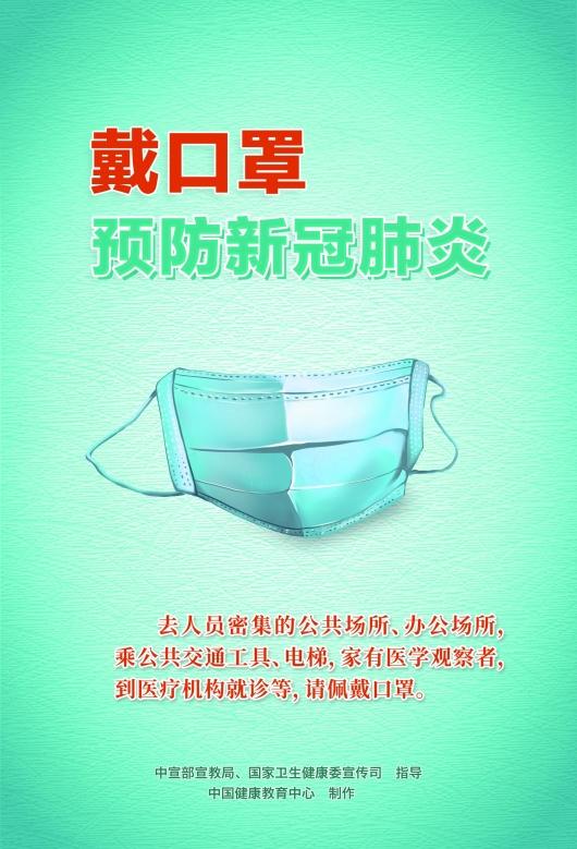 新冠肺炎防護知識宣傳海報
