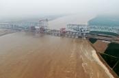 鄭濟高鐵鄭州黃河特大橋加緊建設