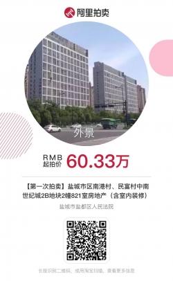 中南世纪城一房产60.333万元起拍